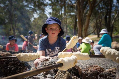 Billy Tea and Damper - Log Cabin Camp