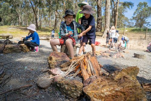 Camp Fire - Log Cabin Camp