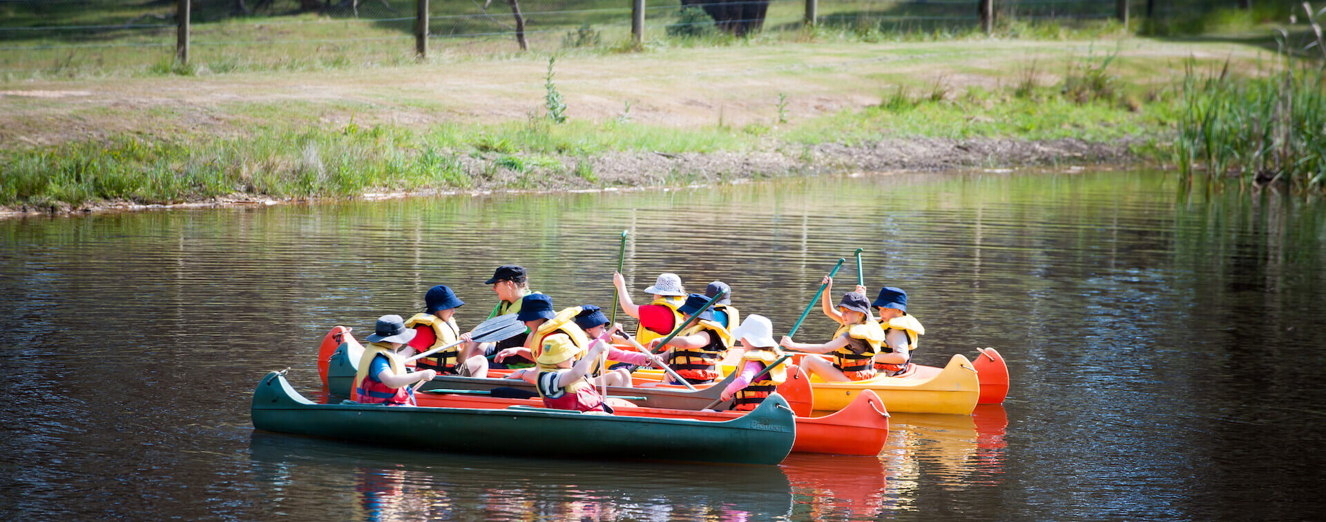 Kids Canoeing